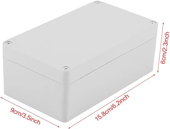 158/×90/×60mm Cajas de Empalme Caja de Proyecto de ABS Impermeable IP65 Caja El/éctrica de Instrumento para Ensambladura de Alambres