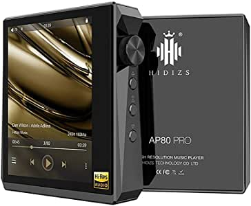 HIDIZS AP80 Pro High Resolution Lossless MP3 Music Player with LDAC/aptX/FLAC/Hi-Res Audio/FM Radio Hi-Fi Bluetooth Audio Player with Full Touch Screen (Black)
