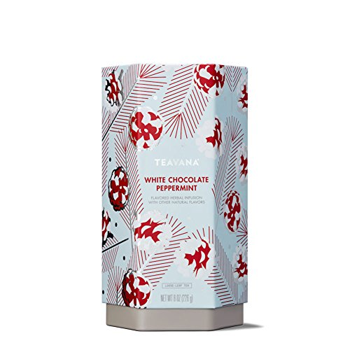 Teavana White Chocolate Peppermint Loose Leaf Herbal Tea/ 8 Ounces (Tea Tea Leaves Peppermint)