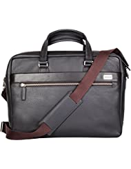 CROSS Mens Genuine Leather Weekender / Office / Laptop / Business Bag 15.6 inches Laptop Compartment