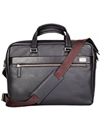 CROSS Men's Genuine Leather Weekender Bag with 14 inches Laptop Compartment - FV Range- Coffee - AC021028-2