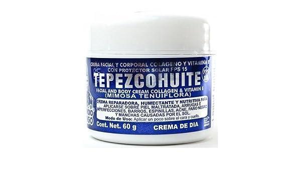 Amazon.com: Crema de Dia Tepezcohuite Del Indio Papago 60g., Tepezcohuite Day Cream: Beauty