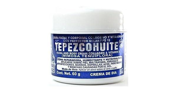 Amazon.com: Crema de dia Tepezcohuite del Indio Papago 60 G ...