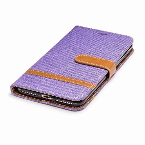 Yiizy Apple IPhone 7 Plus Cover Custodia, Modello Del Cowboy Design Silicone Custodia Flip Cover Portafoglio PU Pelle Cuoio Copertura Case Slot Schede Cavalletto Stile Libro Bumper Protettivo Borsa (P