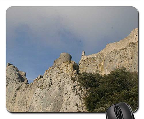 (Mouse Pads - Chateau De Peyrepertuse Rock Castle Mountains )