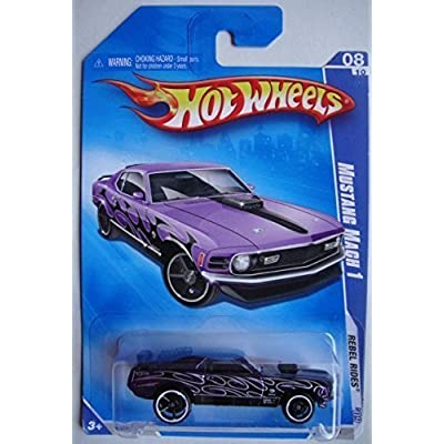 HOT WHEELS 2009 REBEL RIDES PURPLE MUSTANG MACH 1 8/10: Toys & Games