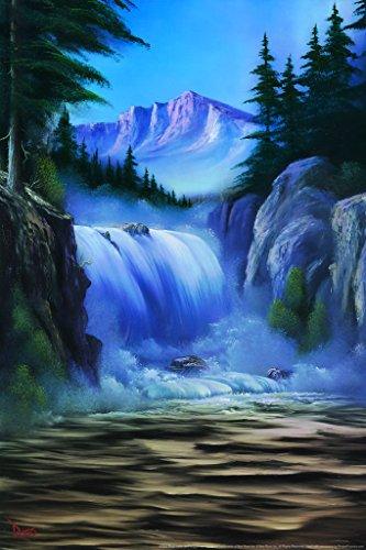Bob Ross Spectacular Waterfall Art Print Painting Poster 24x
