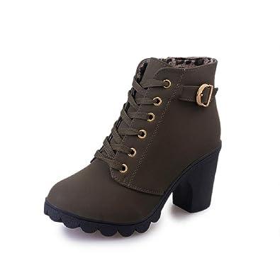 low priced 2f4d2 94d32 Stiefel Damen Mit Absatz Blockabsatz Frauen High Heels Ankle ...