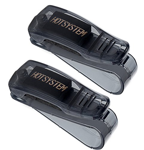 HOTSYSTEM Car Visor Glasses Holder Sunglasses Clip for Auto Truck Black 2-pack