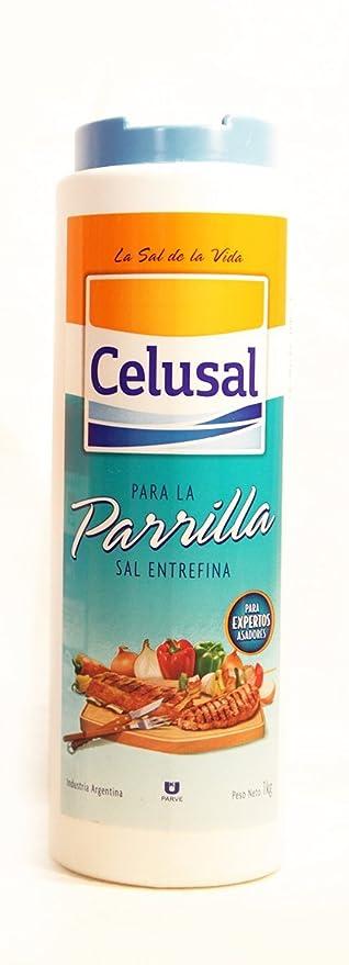 Sal CELUSAL para la PARRILLA -1 kg.. Sal entrefina. Para ...