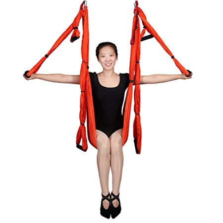 ZENWEN Hamaca de Yoga de 6 Asas Sin Estiramiento Tejido de ...