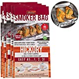 Smoker Bags - Set of 6 Hickory Smoking Bags for Indoor or Outdoor Use - Easily Infuse Natural Wood Flavor
