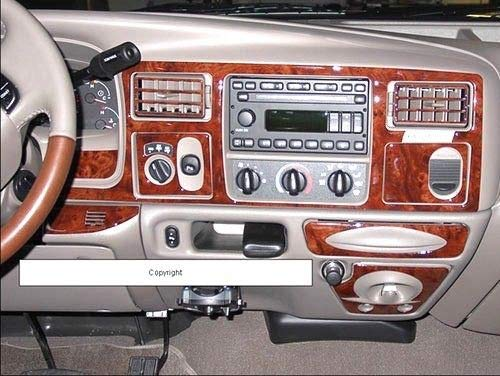 Interior Wood Dash Kit - FORD F-250 F-350 F250 F350 INTERIOR BURL WOOD DASH TRIM KIT SET 1999 2000 2001 2002 2003 2004