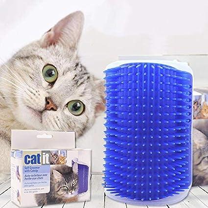 Amazon.com : HBK Cat Supplies Cat Brush Wall Corner Cat Self Groomer Comb Cats Scratcher with Catnip Pet Massager Products : Pet Supplies