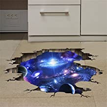 Home Decor gift 3D STEREO SOFA TV floor surface ceilings decal (Galaxy) wall of the Universe (60*90)-YU&XIN