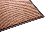 Guardian Golden Series Dual-Rib Indoor Wiper Floor Mat, Vinyl/Polypropylene, 4'x10', Beige