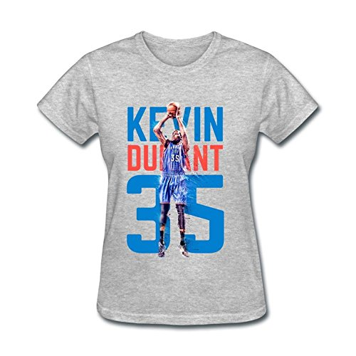 USTJC Women's Kevin Durant Oklahoma City Thunder #35 T Shirt L (Motorcycle Thunder T-shirt)