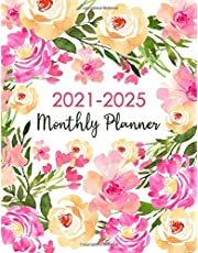 2021-2025 Monthly Planner: 5 Year Jan 2021 to Dec 2025 Calendar Agenda Schedule Monthly Logbook and Goals Journal Appointment Diary Organizer Gifts for Work and Business - Floral