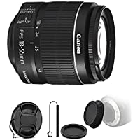 Canon EF-S 18-55mm f/3.5-5.6 IS II Lens with Rear & Front Lens Cap & Holder for Canon EOS 550D 500D 450D 400D