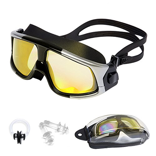 Professional Swim Goggles by GT ROAD No Leaking Anti Fog UV Protection Swimming Goggles for Adult Men Women Youth Kids(Nose Clip and Ear Plugs Included)
