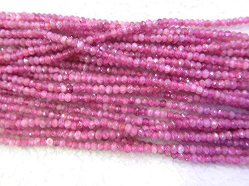 pink opal beads red tourmarine Amazonite gemstone crystal lapis sunstone labaradorite aquamarine beryl ruby beads rondelle abacus faceted necklace loose beads 2-4mm full (Aquamarine Faceted Rondelle Beads)