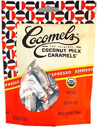 Espresso Cocomels Coconut Milk Caramels - Organic - Made Without Dairy - Kosher - GMO Free - Espresso 1 (Espresso Caramel)