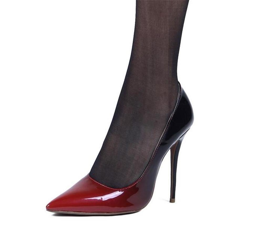 XIE XIE XIE Lackleder der Frauen Spitze Hohe Verfolgte Schuhe 76bcee