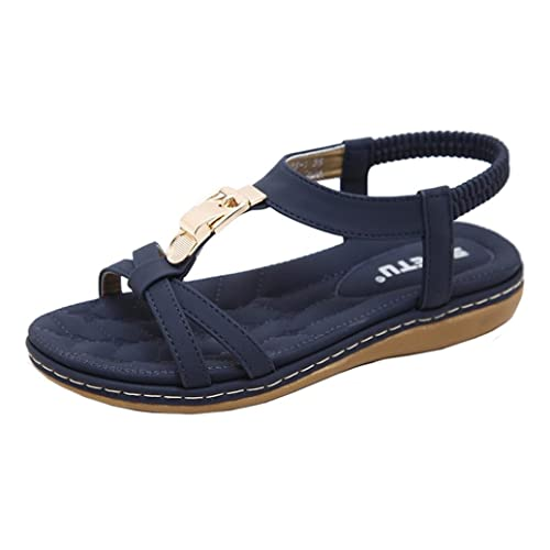 7184dbad28a9a7 Luoluoluo Wide Fit Sandals for Women