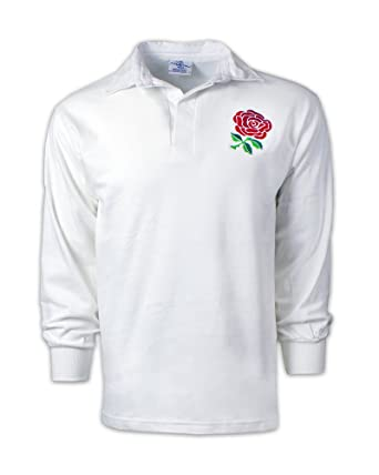men s vintage embroidered english crest long sleeve england rugby shirt with free personalisation from print me