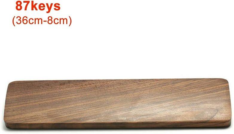 Buyfunny01 - Almohadilla para reposamuñecas para teclado, superficie pulida, madera de nogal, resistente, portátil, accesorios ergonómicos, para ...