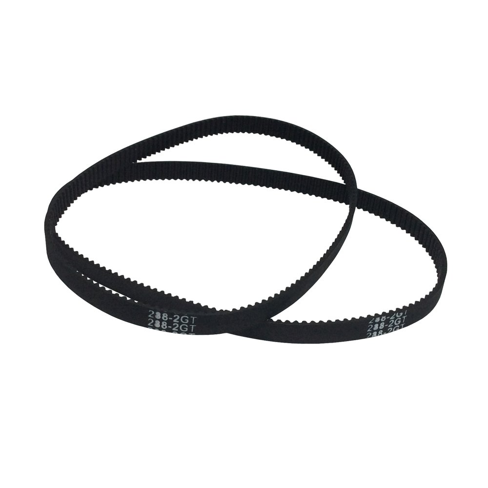 BEMONOC 3D Printer Parts 288-2GT-6 Timing Belt in Closed Loop Color Black GT2 L=288mm W=6mm 144 Teeth Pack of 10pcs by 2GT Timing Belt Closed Loop (Image #4)