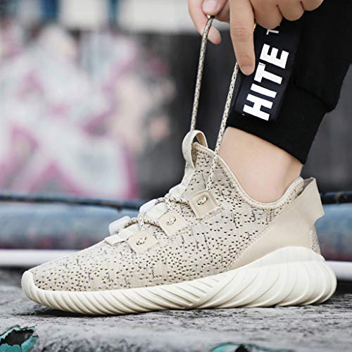 71ddd38178009 JJLIKER Mens Women Lightweight Sneakers Mesh Woven Stylish Shoes  Comfortable Breathable Tennis Shoes Running Sneakers