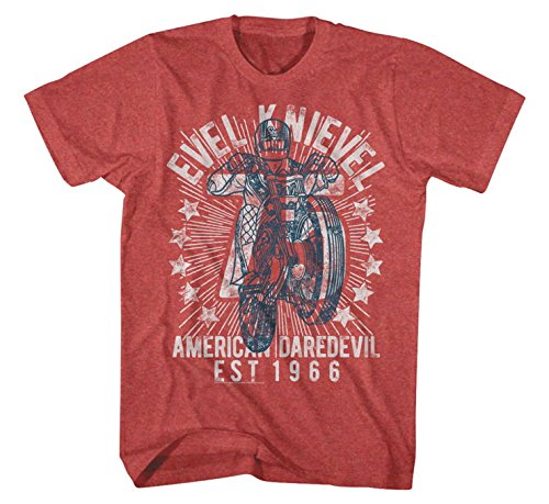 Evel Knievel EK5114-2XL Seventy Five T-Shirt, Gender: Mens/Unisex, Primary Color: Red, Size: 2XL, Distinct Name: Red