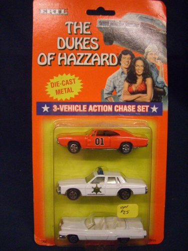 Dukes of Hazzard Hazzard County Car Set General Lee, Boss Hogg, Daisy