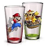 Super Mario Pint Glasses, Set Of 2