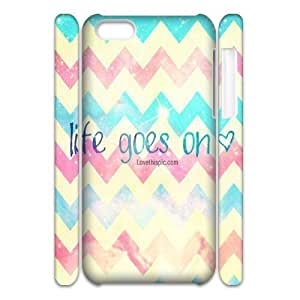 Life Goes On Customized 3D Case for Iphone 5C, 3D New Printed Life Goes On Case