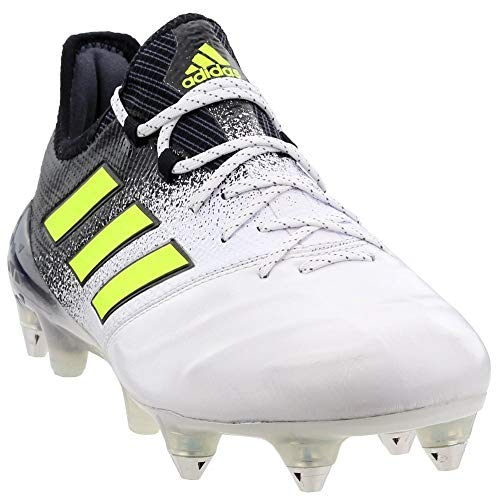 adidas Mens Ace 17.1 Soft Ground Leather Soccer Athletic Cleats, White, 10