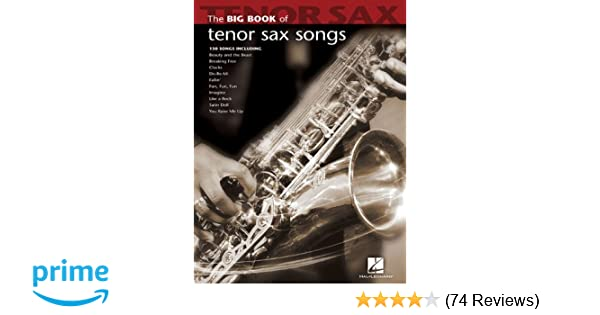 Amazon com: Big Book of Tenor Sax Songs (Big Book (Hal