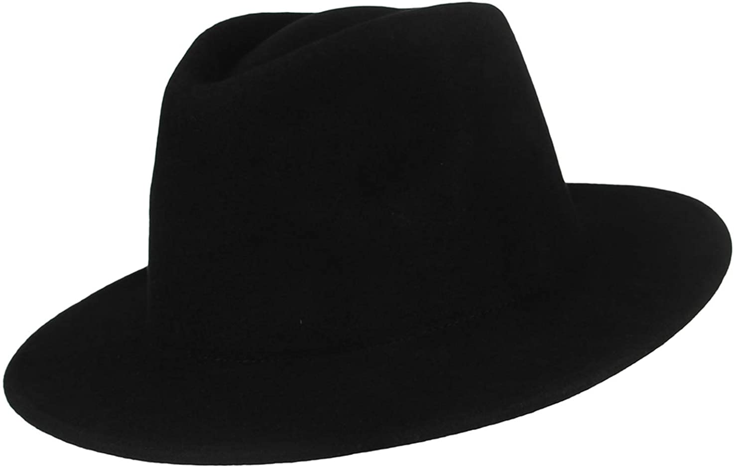 GEMVIE Wool Fedora Hat Wide...