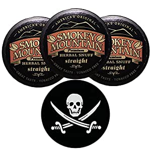 Amazon com: Smokey Mountain Herbal Snuff/Chew - 3ct Straight