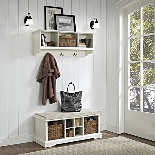 Entryway Storage Bench and Hanging Shelf