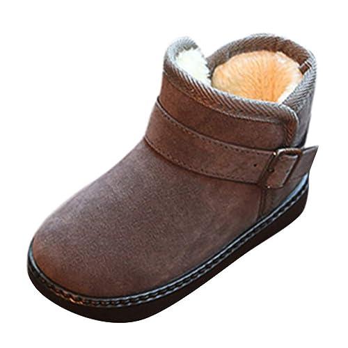 BBestseller Botas de Nieve de Invierno para niños y Botines de Terciopelo Antideslizantes calientan Zapatos Caliente Sneakers Invierno Navidad: Amazon.es: ...