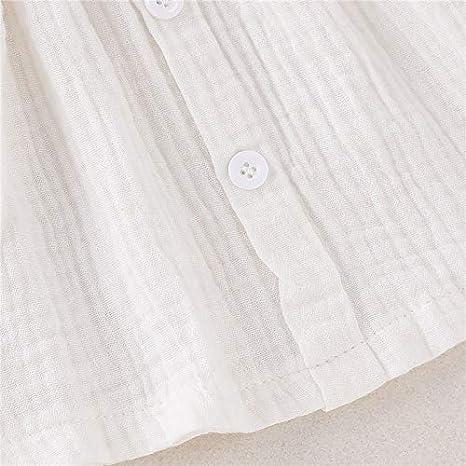 OPAWO Toddler Baby Girl Sleeveless Dress Princess Summer Backless Bowknot Overall Sundress 6M-4Y