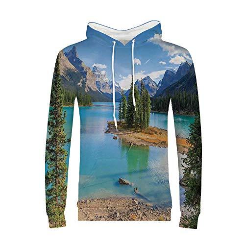 Athletic Sportswear Men's Hooded Sweatshirt Kangaroo Pocket (Jasper Fabric Necklace)