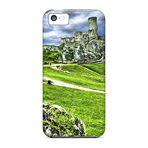 Ideal Initial Love Case Cover For Iphone 5c(the Ruins Of Ogrodzieniec Castle), Protective Stylish Case