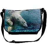 Polar Bear Swims Underwater Animal Casual Adjustable Strap Shoulder Bag - Crossbody Sling Messenger Bags
