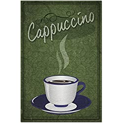 Cappuccino Sign (20x30 Premium 1000 Piece Jigsaw Puzzle, Made in USA!)