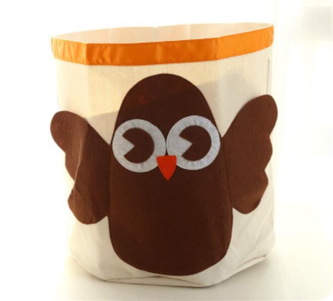 Guter Helfer Organic Cotton Hängesack Cartoon Animal Storage Eimer Faltbare Korb Korb Kinder Spielzeug Aufbewahrung Bag_Owl Multicolor PvxgIo