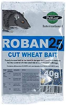 Strongest Publicly Available Elixir Gardens  Roban 25 Paste Bait Rat /& Mouse Poison//Killer Bait 15 x 10g Sachets