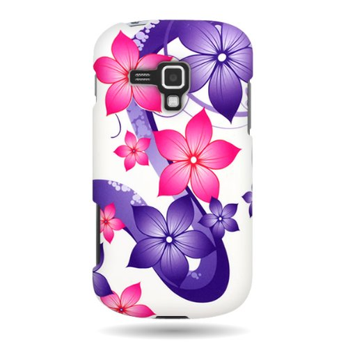 C750 Series - Samsung Galaxy Amp Phone Case, CoverON [Snap Fit Series] Slim Rubberized Hard Plastic Design Phone Cover Case for Samsung Galaxy Amp i407 - Hibiscus Flower